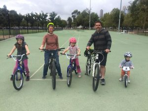 Family bike lesson